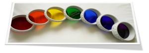 Bioptron valgusteraapilise lambi 7 värvifiltrit