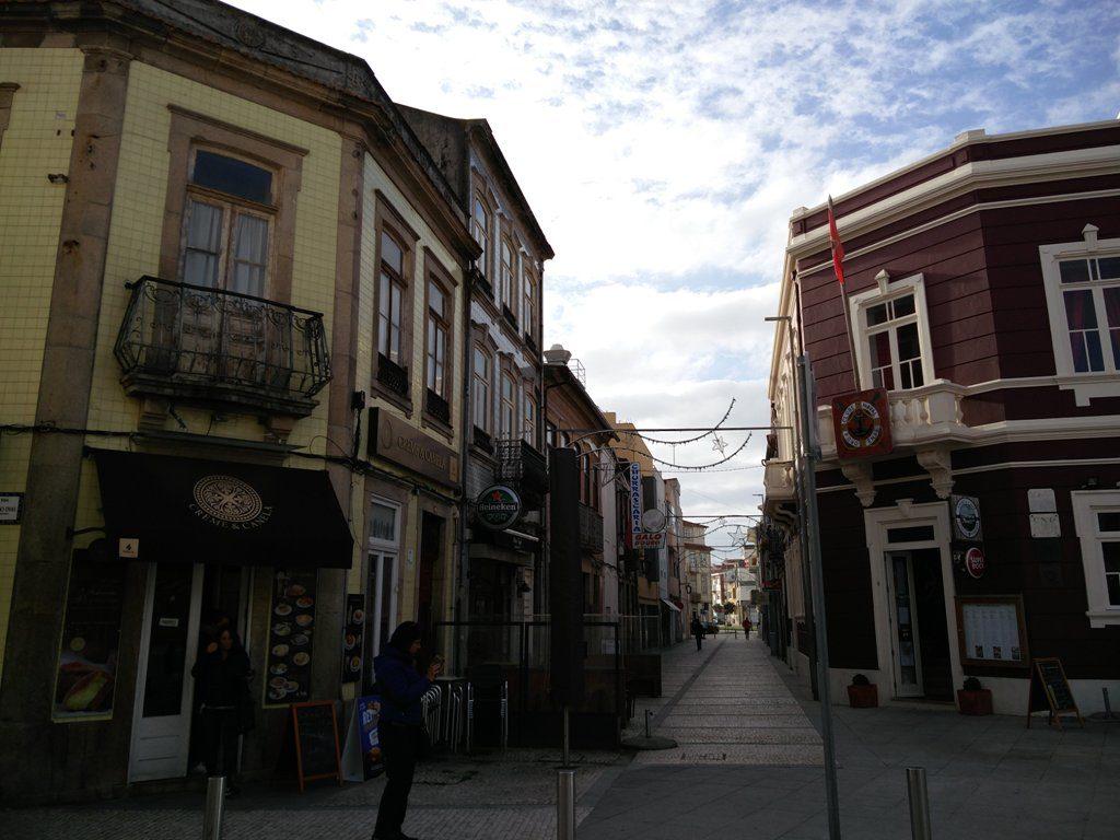 Povoa de Varzim tänav viib ookeani äärde