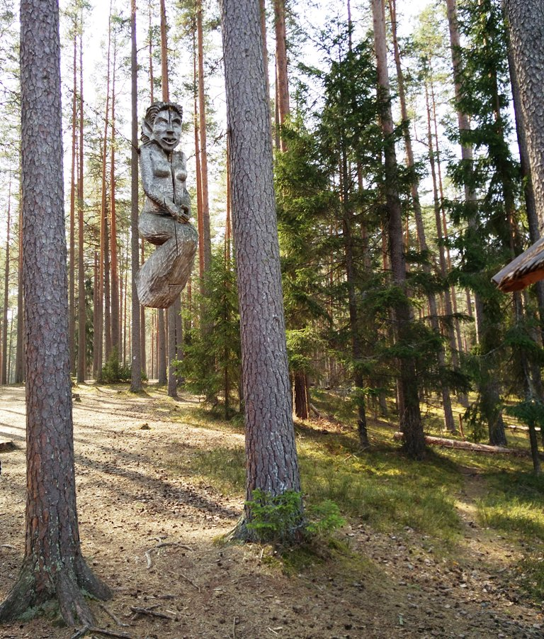puuskulptuur Meenikunno matkarajal