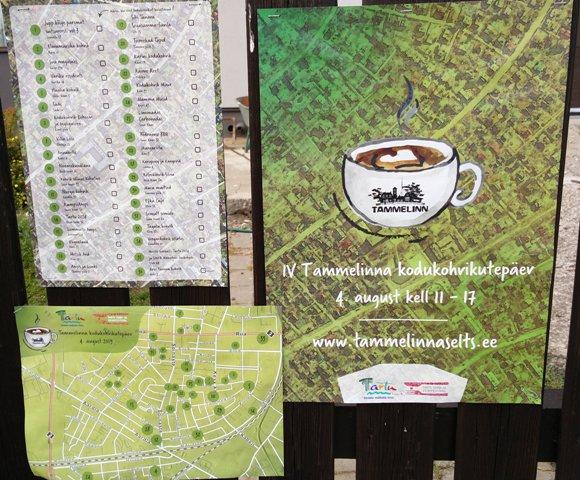 Tammelinna kodukohvikutepäev kaart