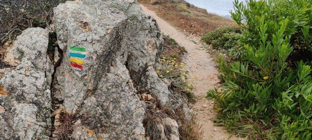Rota Vicentina raja märgid kivil